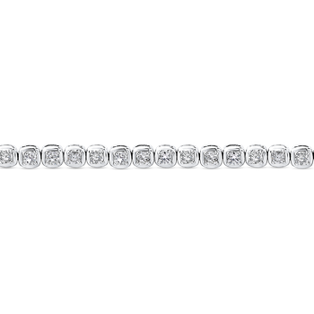 2.50 ct Round White Diamond Tennis Bracelet In 14K White Gold