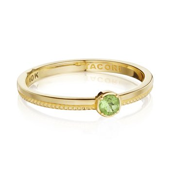 Gemstone Band Ring w/ Peridot
