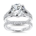 Grand Opulance Collection Split Shank Engagement Ring in 14K White Gold (3-3/4 ct. tw)