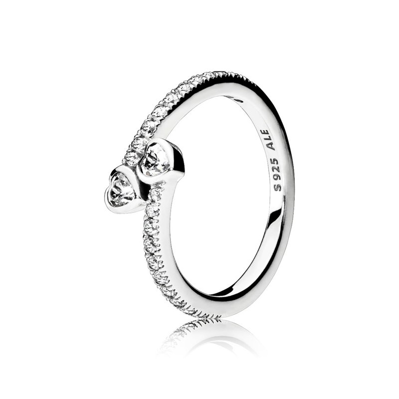PANDORA Forever Hearts Ring, Clear Cz
