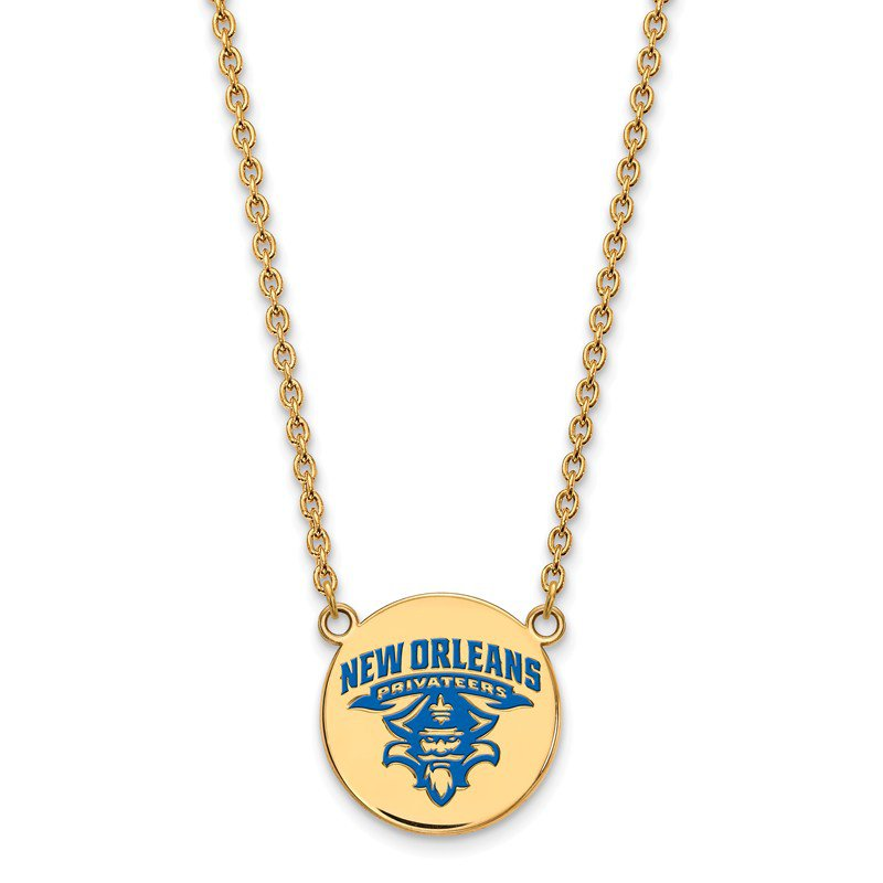 NCAA Gold-Plated Sterling Silver University of New Orleans NCAA Necklace
