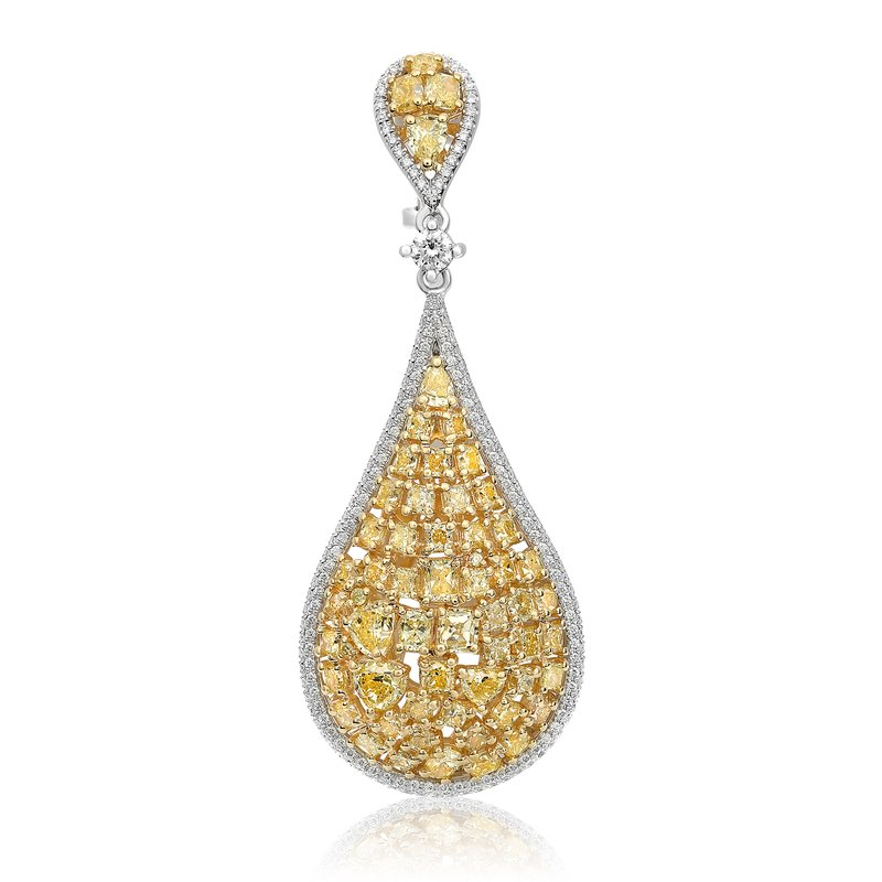 Roman & Jules Yellow Diamond Cluster Earrings
