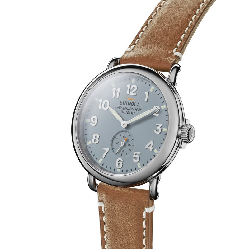 Shinola Runwell 41mm, Brown Leather Strap