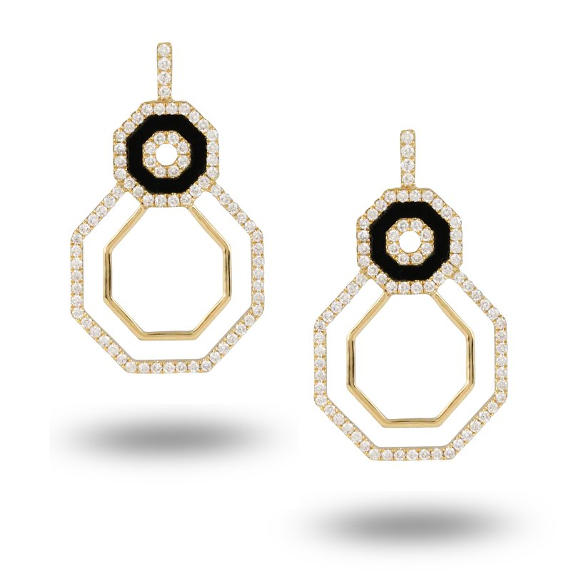MAZZARESE Couture Gatsby Open Frame Earrings 18KY