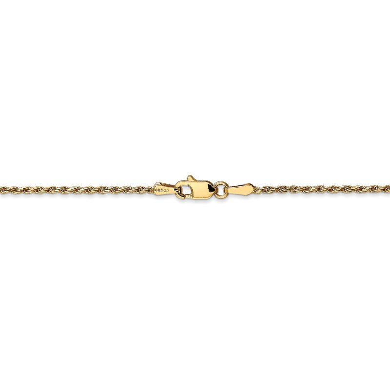 Quality Gold 14k 1.3mm Solid D/C Machine-Made Chain