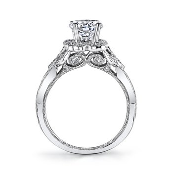 MARS 26592 Diamond Engagement Ring 0.44 Ctw.