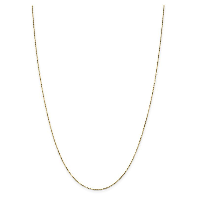 Quality Gold 14k .9mm D/C Round Open Link Cable Chain