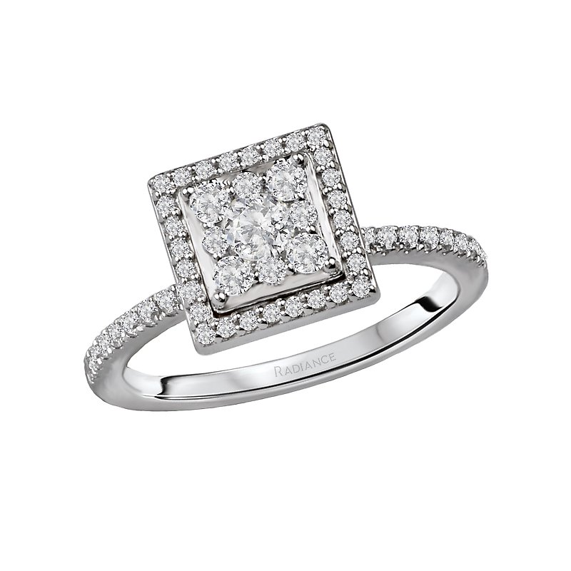 Radiance Diamond Cluster Bridal Ring