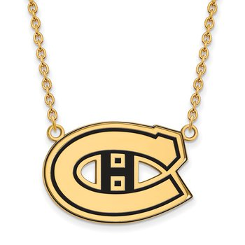 Gold-Plated Sterling Silver Montreal Canadiens NHL Necklace