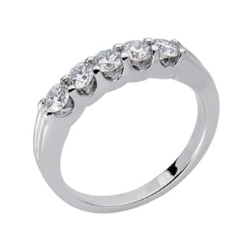 Diamond Band Five Stone