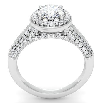 Round Diamond Halo Engagemant Ring