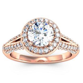 Round Diamond Halo Engagemant Ring