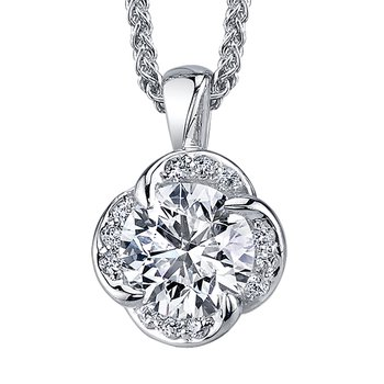 Maple Leaf Diamond Wind's Embrace Pendant