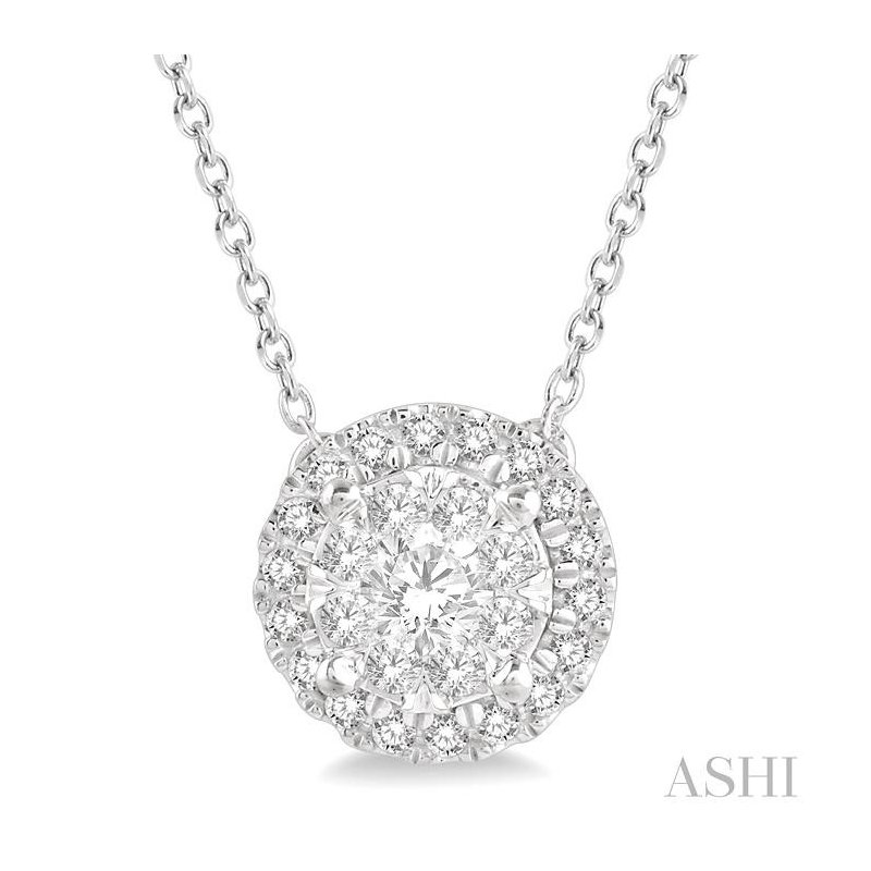 Gemstone Collection lovebright diamond necklace