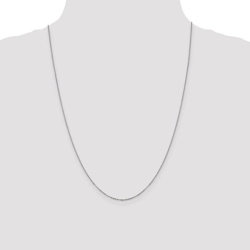 Leslie's Leslie's 14K White Gold 1.1mm Flat Cable Chain