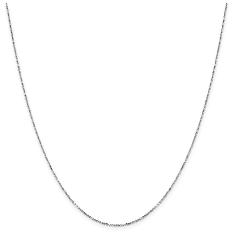 Leslie's Leslie's 14K White Gold 1.1 mm Flat Cable Chain