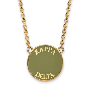 Gold-Plated Sterling Silver Kappa Delta Greek Life Necklace