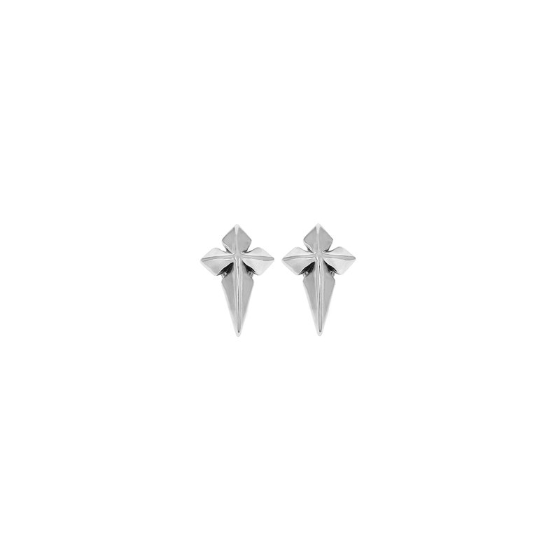 King Baby Pointed Mb Cross Stud Earrings