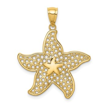 14K Polished Starfish Pendant