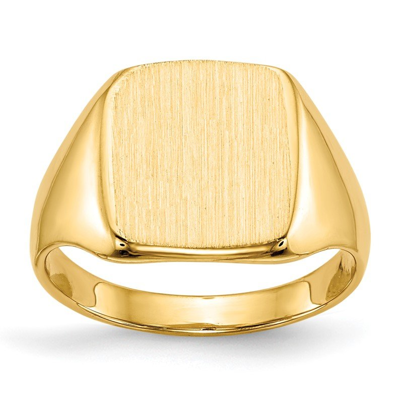 Quality Gold 14k 10.0x10.0mm Closed Back Signet Ring