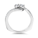 Valina Bridals Two-Stone Diamond Engagement Ring Moutning in 14K White Gold (.46 ct. tw.)