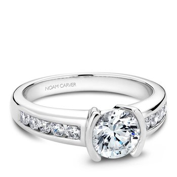 Noam Carver Modern Engagement Ring B033-02A