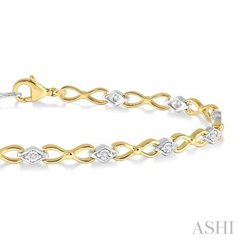 diamond illusion plate bracelet