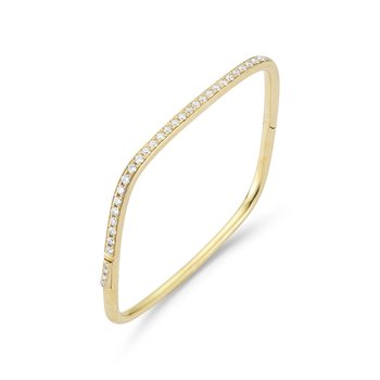 14K  gold  Square Diamond bangle T.W 1.25ct