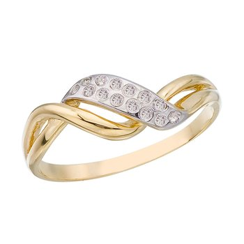 14K Yellow Gold and Diamond Promise Ring