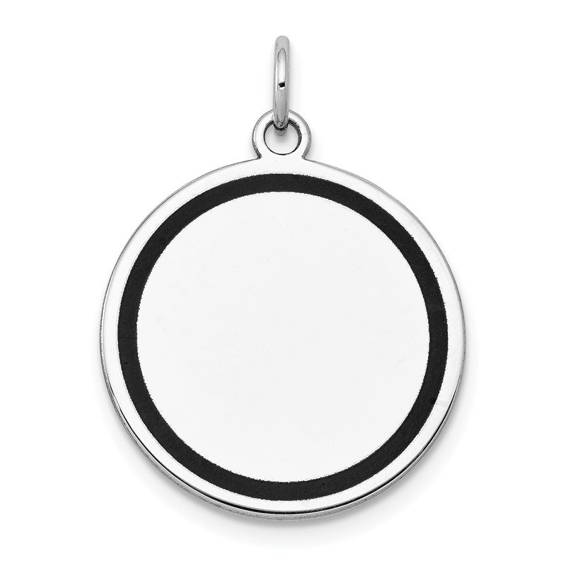 Quality Gold 14k White Gold w/Enamel .027 Gauge Circular Engravable Disc