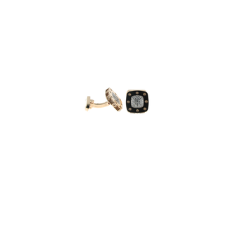 18KT GOLD DIAMOND CUFFLINKS