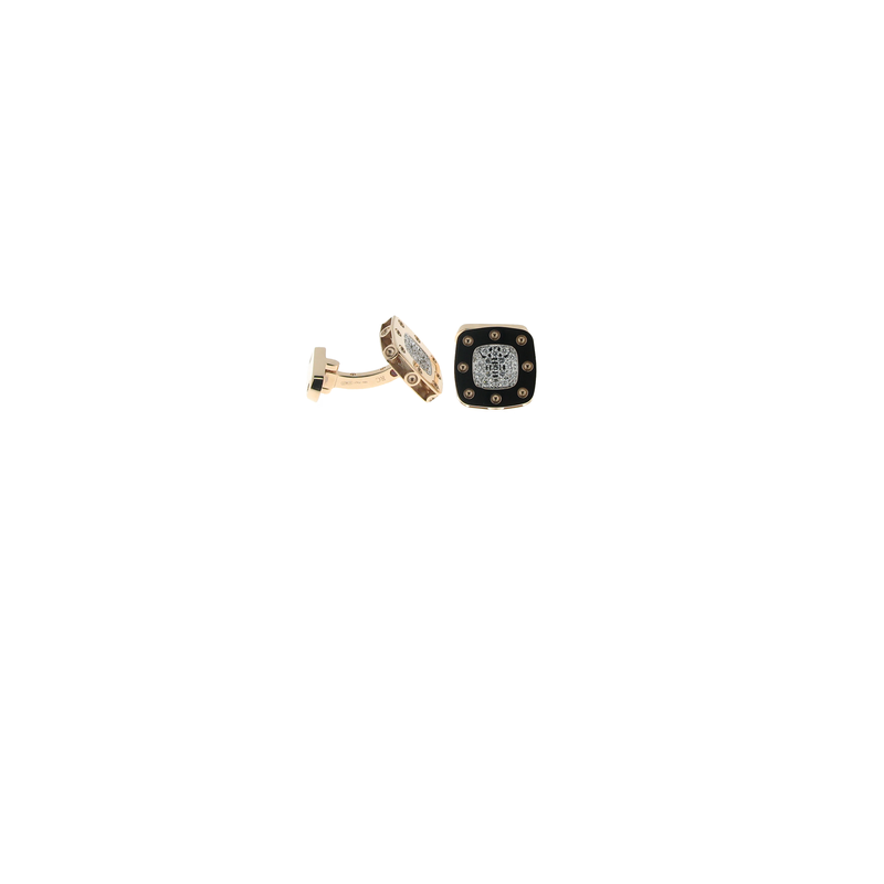 Roberto Coin 18Kt Gold Diamond Cufflinks
