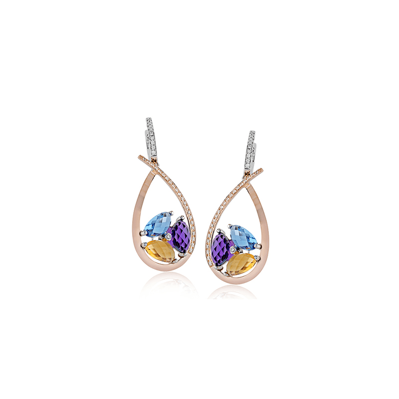 Zeghani ZE604 COLOR EARRING