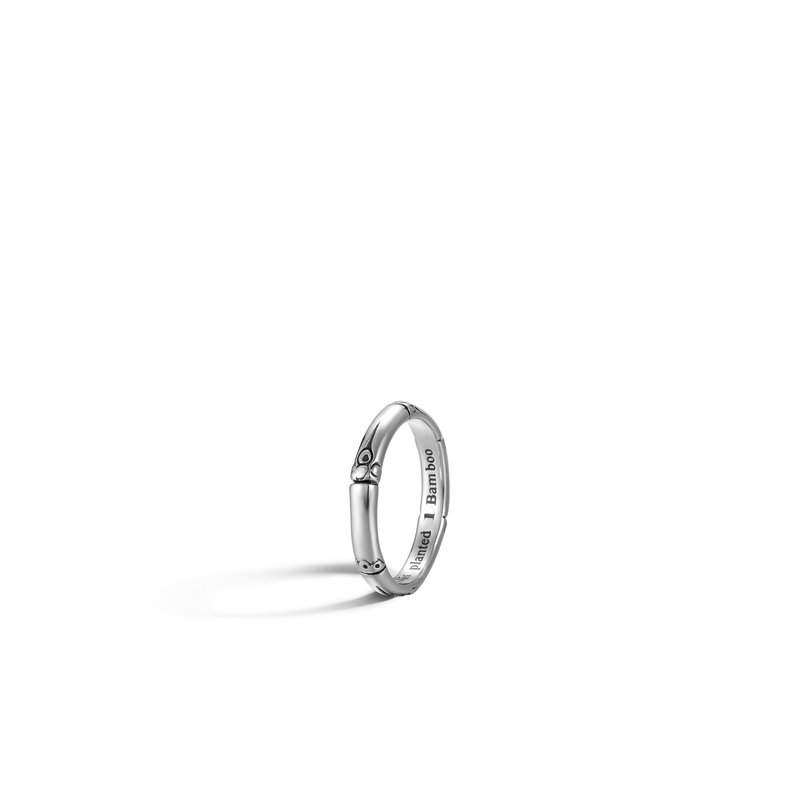 JOHN HARDY Bamboo 3MM Band Ring in Silver