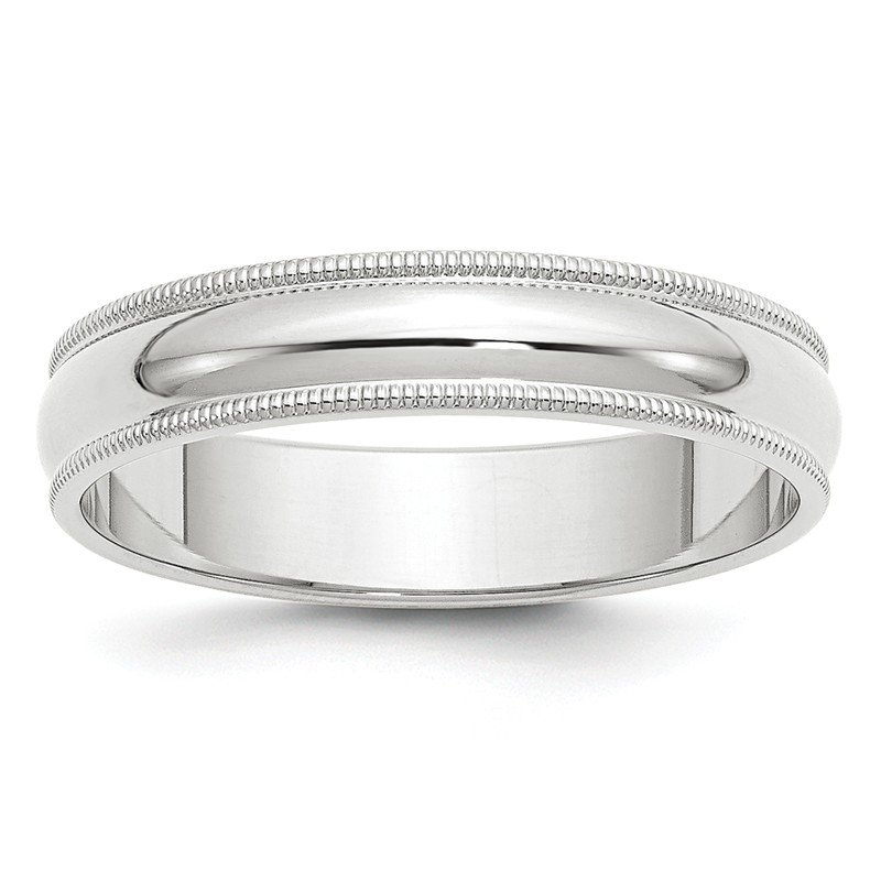 Quality Gold 14k White Gold 5mm Milgrain Band