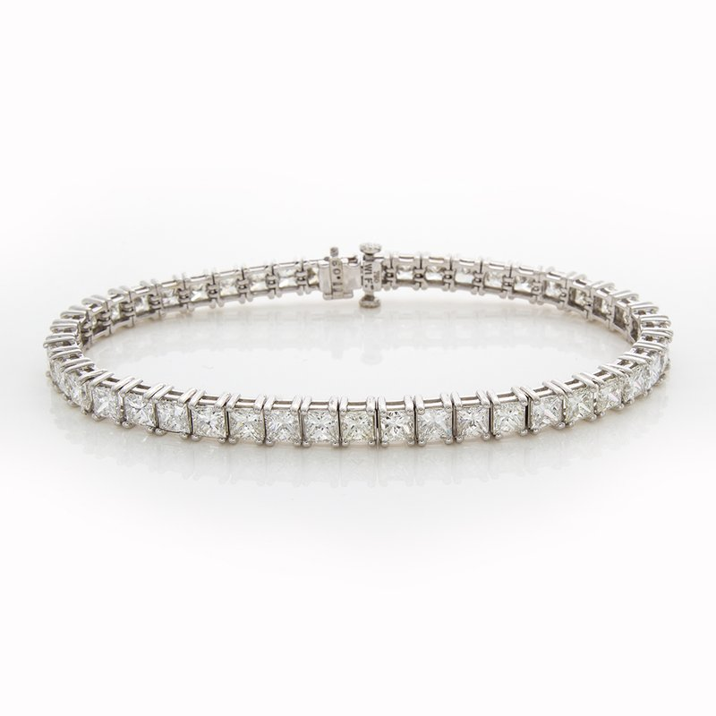 William Levine PRINCESS CUT TENNIS BRACELET