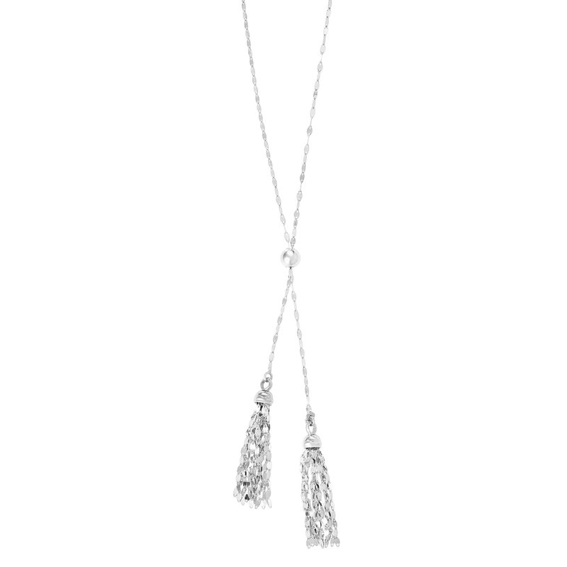 "Royal Chain Sterling Silver 28"" Tassel Friendship Necklace"