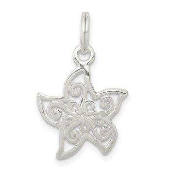 Sterling Silver Filigree Starfish Charm