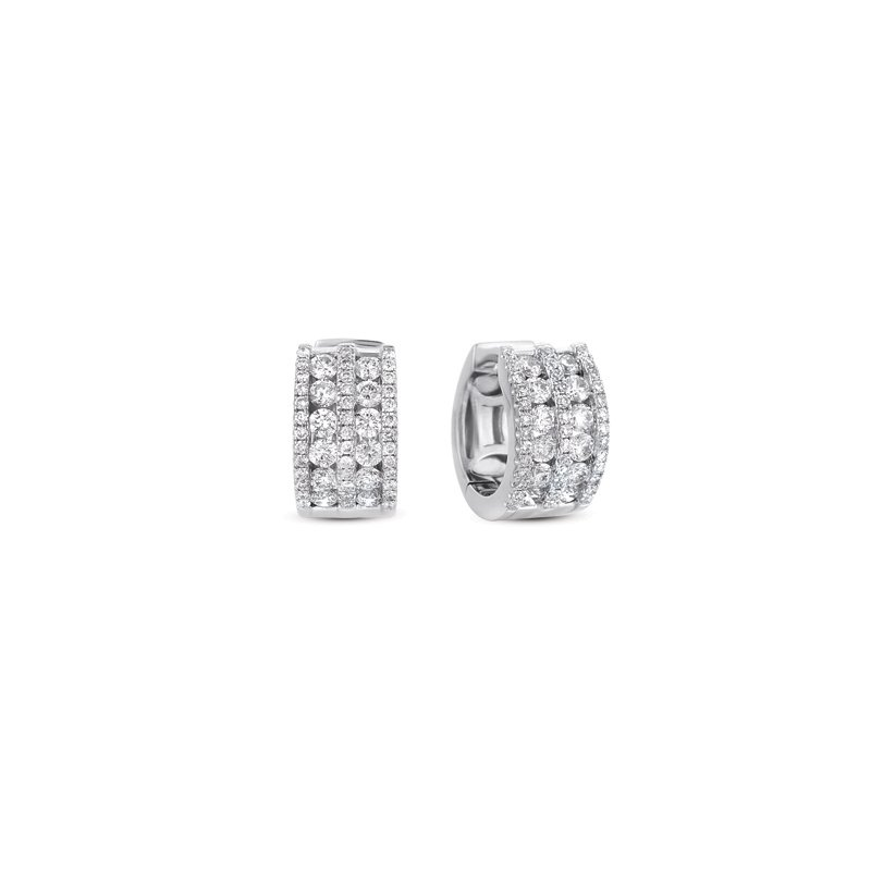 S. Kashi  & Sons White Gold Huggie Earring