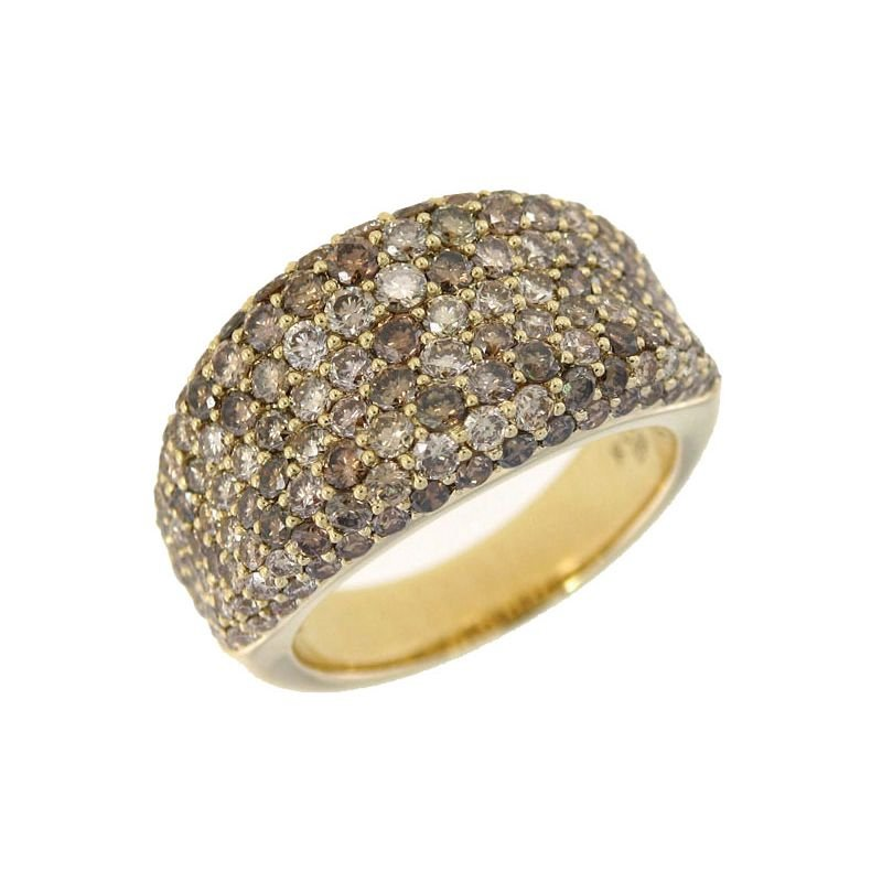 Roberto Coin 18Kt Gold Ring With Brown Diamonds