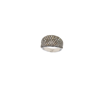 18Kt Gold Ring With Brown Diamonds