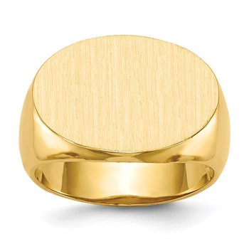 14k 14.0x20.5mm Open Back Men's Signet Ring