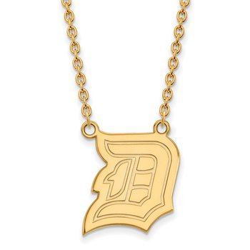 Gold-Plated Sterling Silver Duquesne University NCAA Necklace