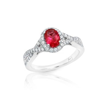 Look of Love Ruby and Diamond Criss-Cross Ring