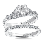 Valina Diamond Engagement Ring Mounting in 14K White Gold (.21 ct. tw.)