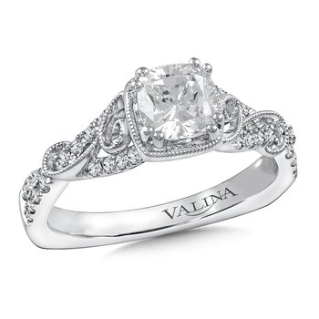 Diamond Engagement Ring Mounting in 14K White Gold (.21 ct. tw.)
