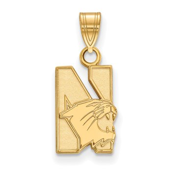 Gold Northwestern University NCAA Pendant