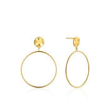 Ripple Front Hoop Earrings