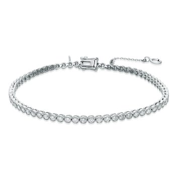 White Diamond Tennis Bracelet