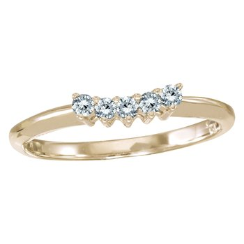 14k Yellow Gold 0.15 Ct Diamond Wrap Band